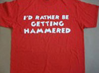 T-shirt-Id-rather-be-getting-hammered